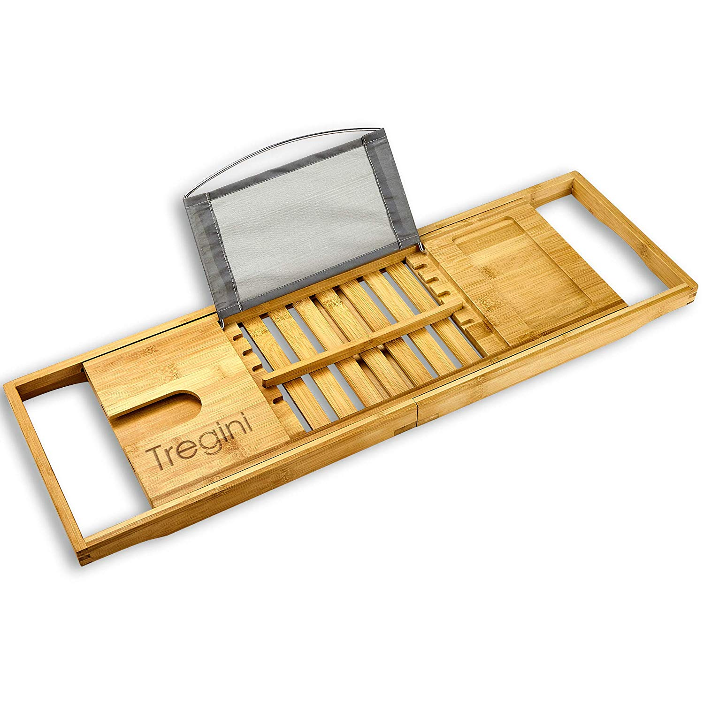 bamboo wood bath tray