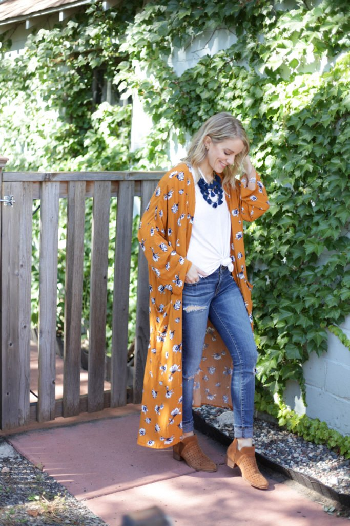 Carly Jean Los Angeles duster with Keren Earth Brand shoes