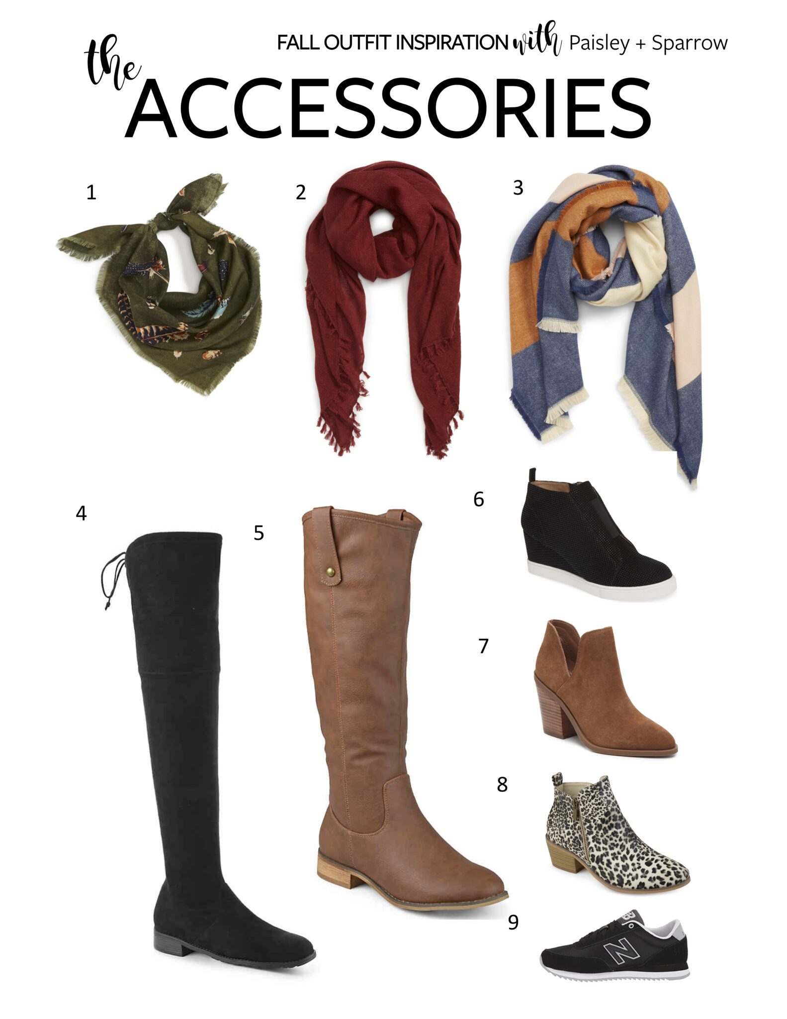 Paisley + Sparrow Fall Outfit Inspiration - Accessories