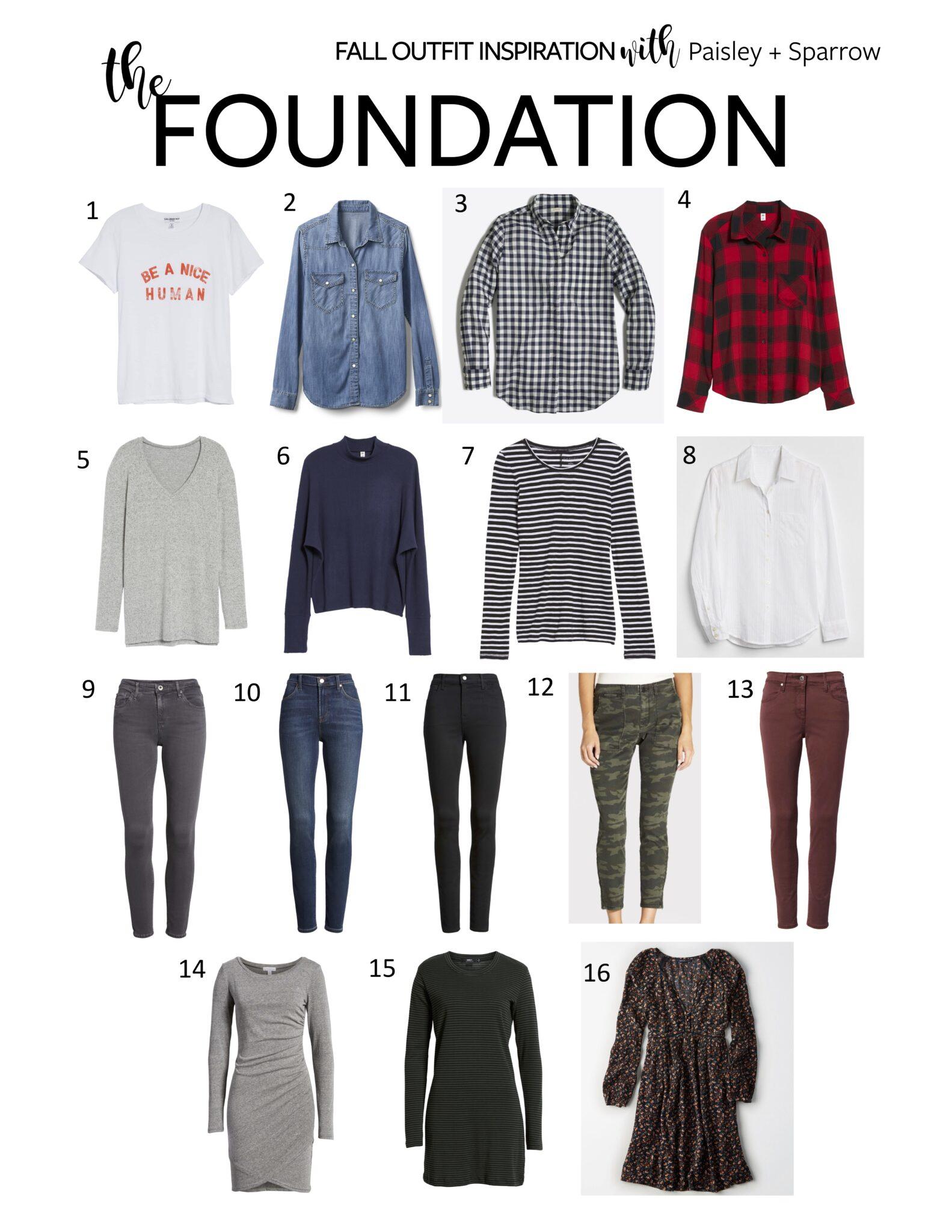 Paisley + Sparrow Fall Outfit Inspiration - Foundation Pieces e1cf8c557