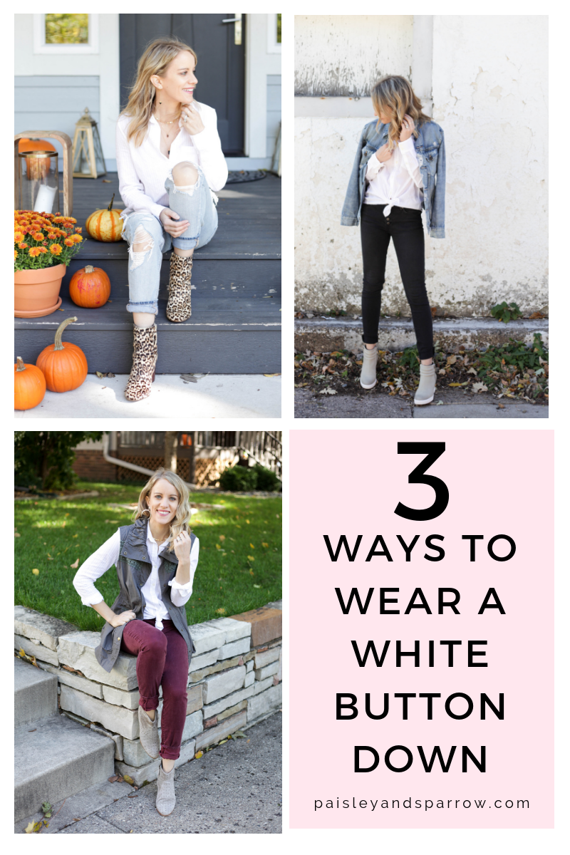 3 ways how to wear a white button down
