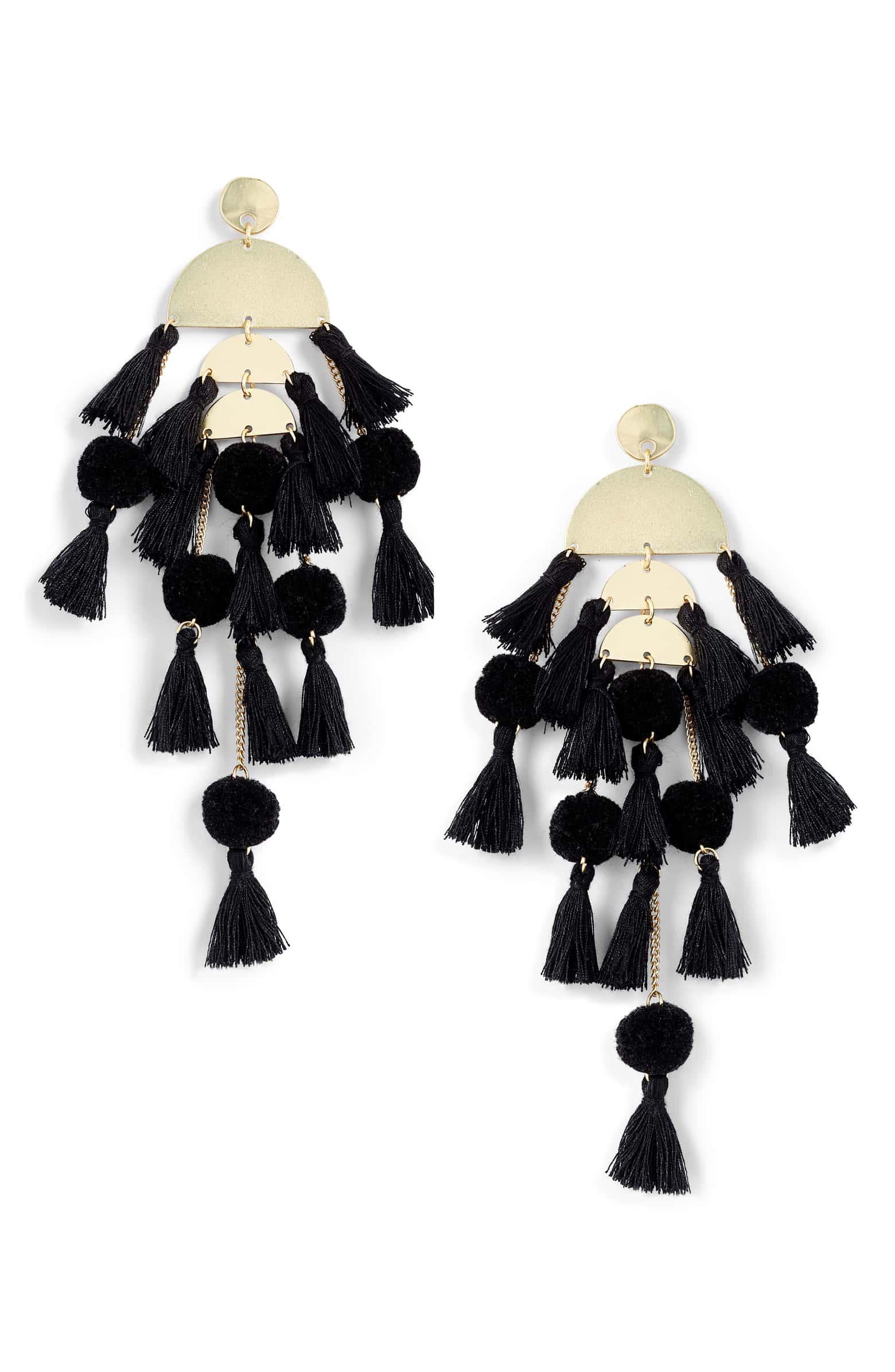 ADD TO FAVORITES Stella + Ruby Calypso Tassel Earrings