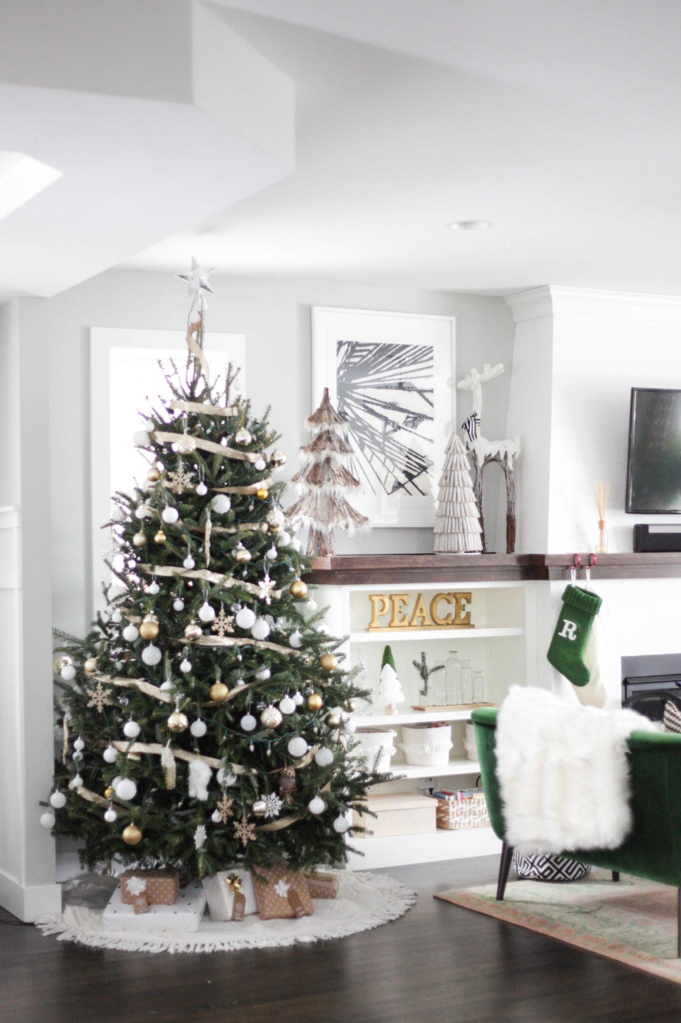 West Elm Christmas.House Tour Christmas Decor 2018 Paisley Sparrow