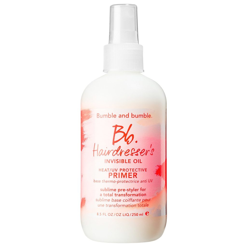 How to prevent hair damage - use a heat protectant