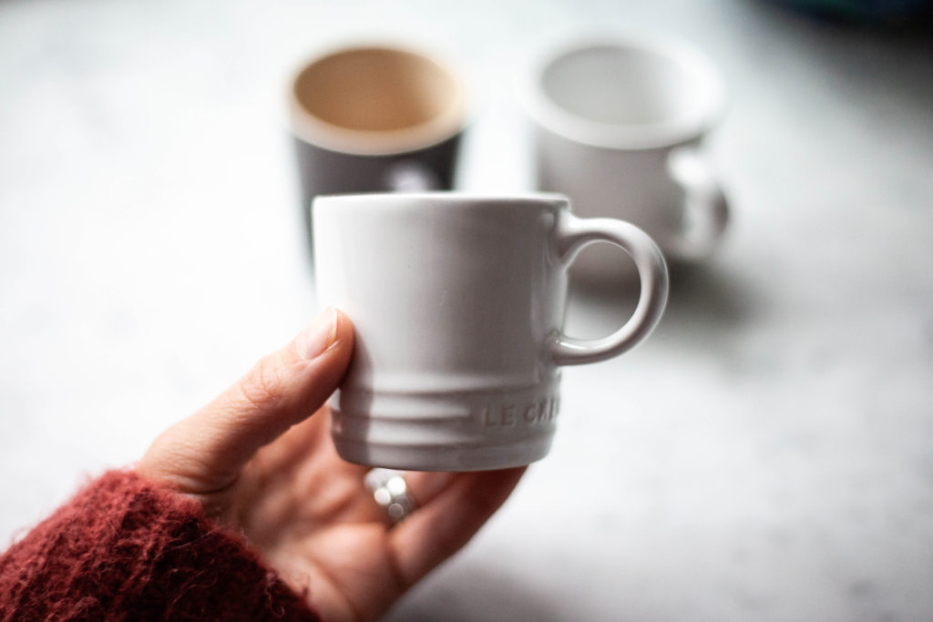 Le Crueset espresso cups perfect for a Nespresso machine!