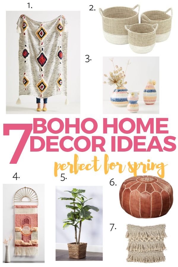 boho home decor I'm loving