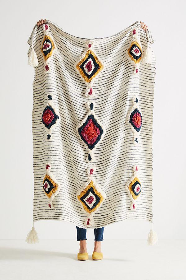Boho Home Decor = tufted ayla throw blanket from anthropologie