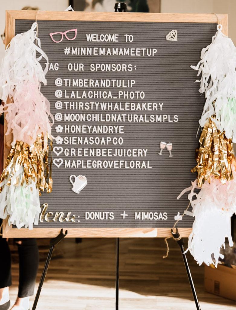 Minne Mama Meetup - sponsors