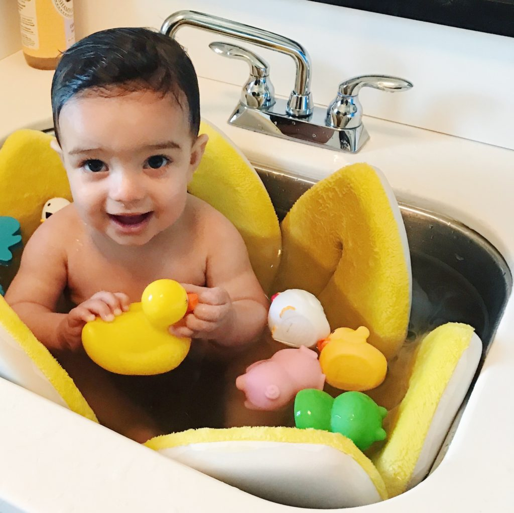 Top 10 Items You Need for a Baby - Blooming Bath in a sink
