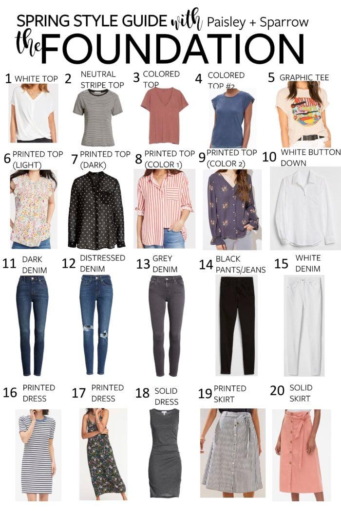 Spring Style Guide + Spring Capsule Wardrobe