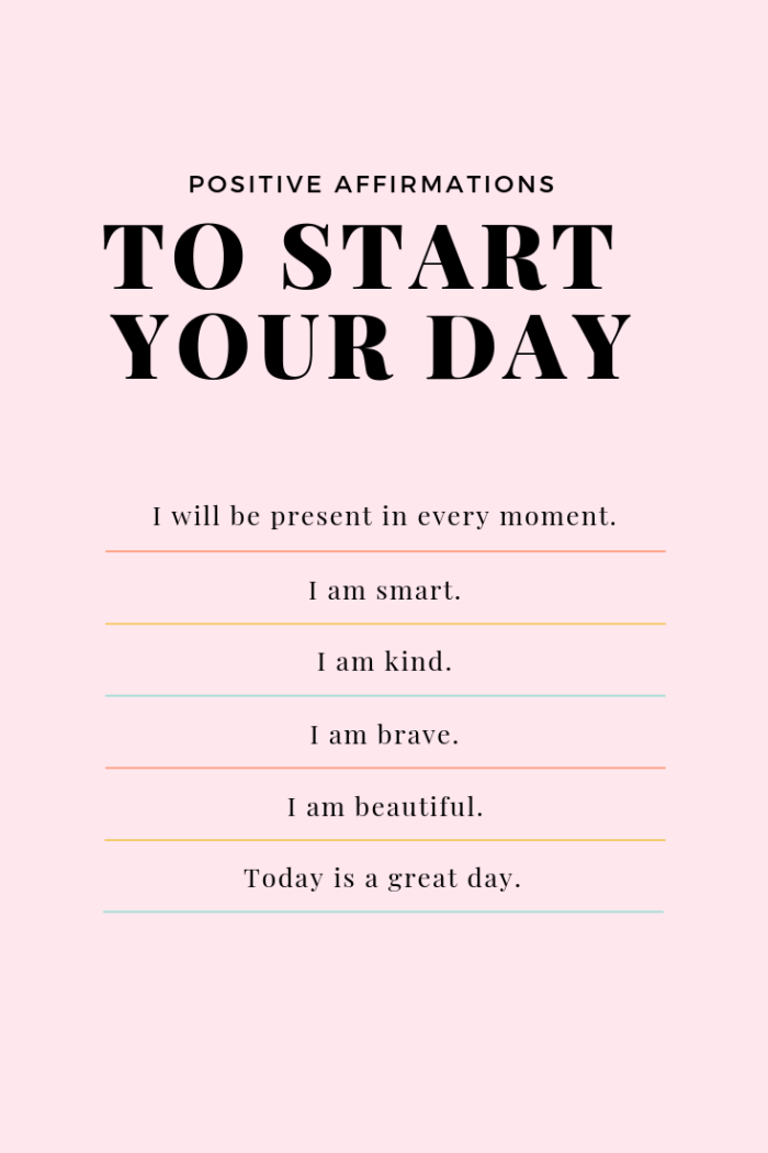 36 Positive Affirmations for Adults, Moms + Kids