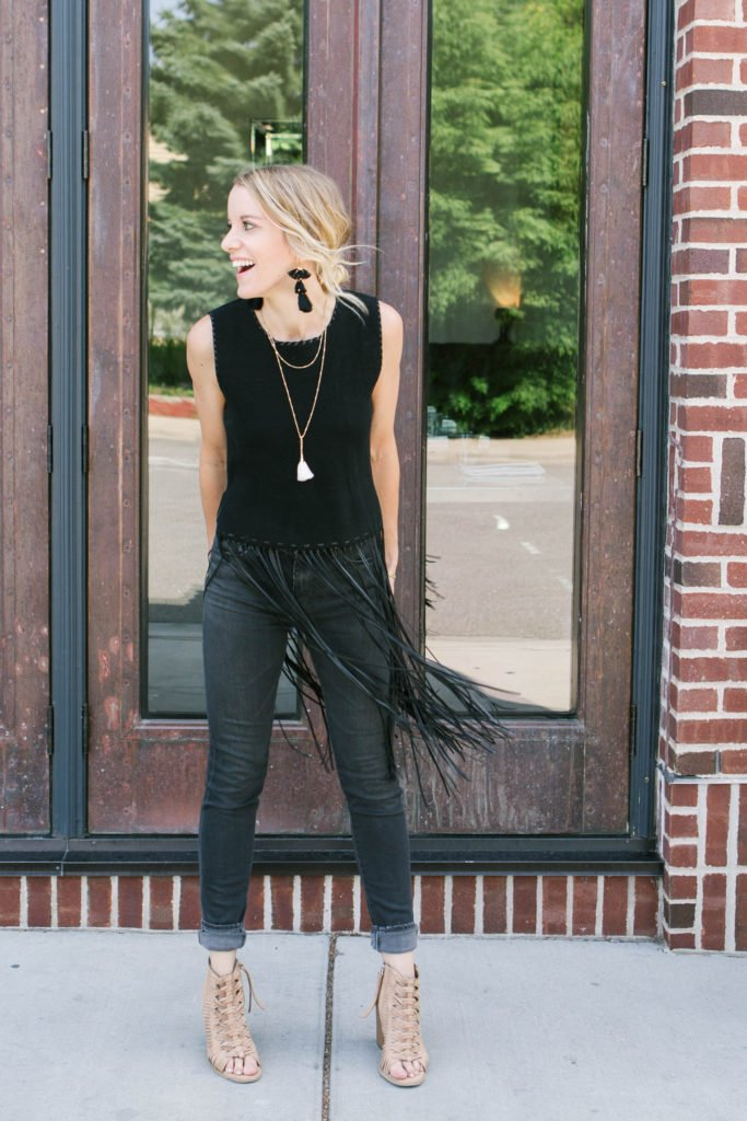 Have some fun with fringe at your next concert! Click through for 8 other options on what to wear to a concert!