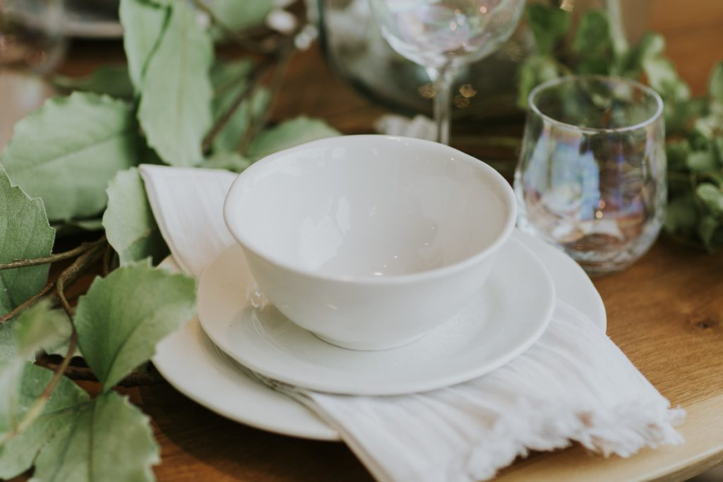 Classic white bowls