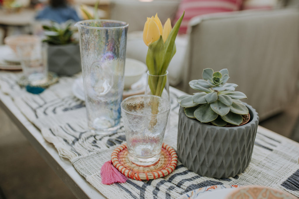 Outdoor tablescape with Anthropologie