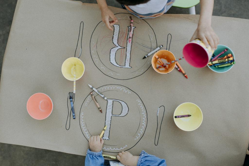 Kid's tablescape idea