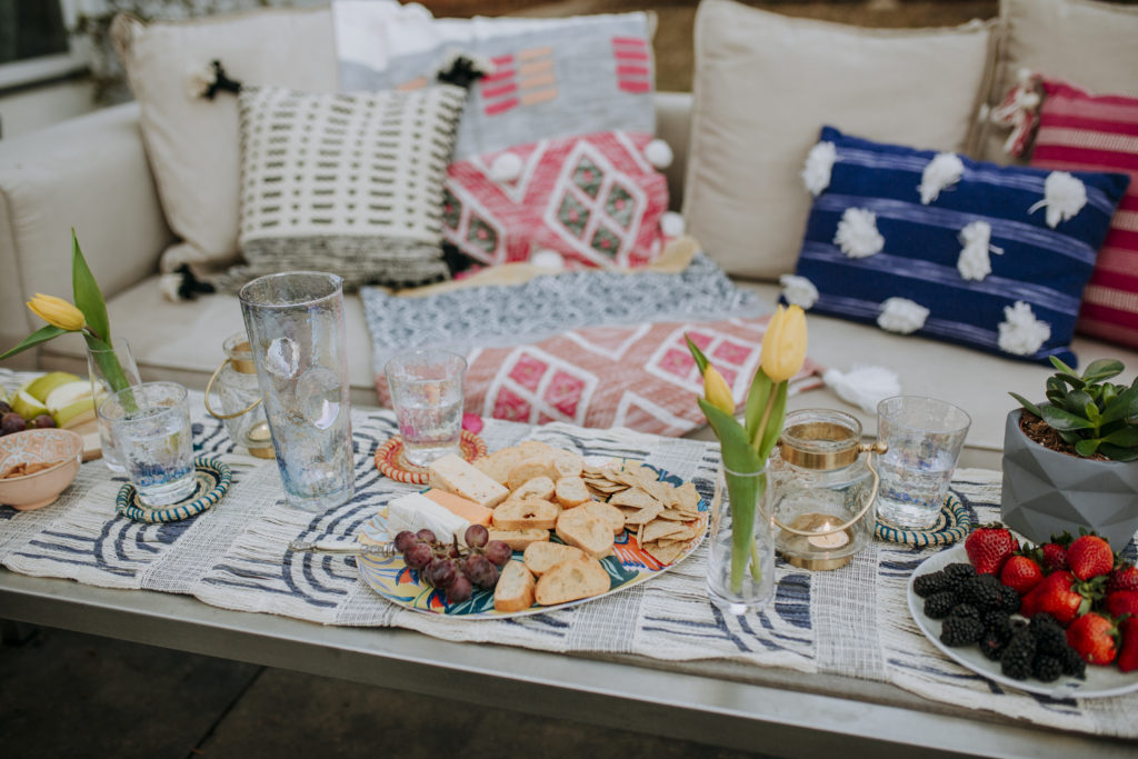 outdoor entertaining with Anthropologie