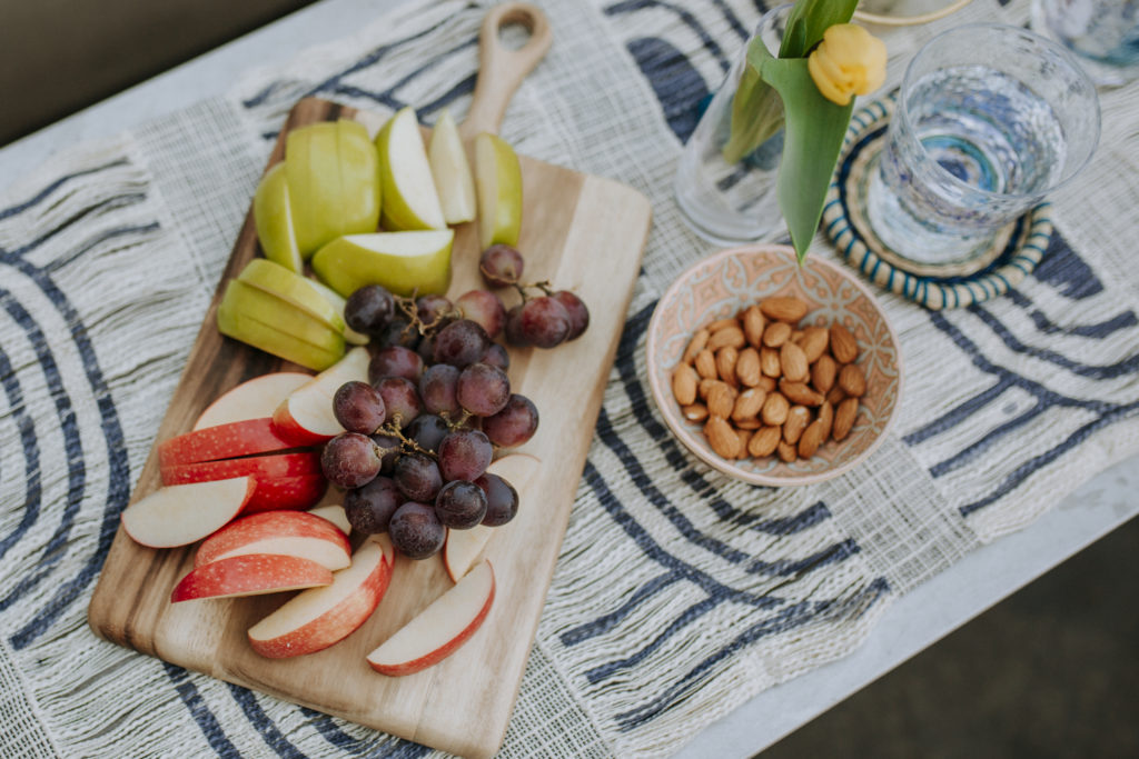 Outdoor food for a summer party