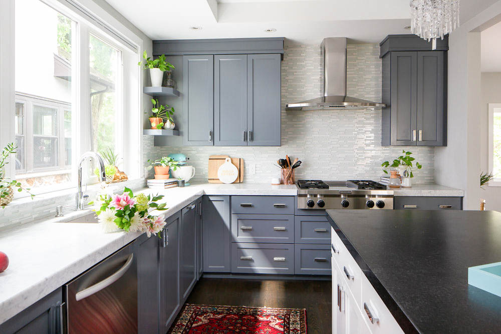 spring cleaning a kitchen