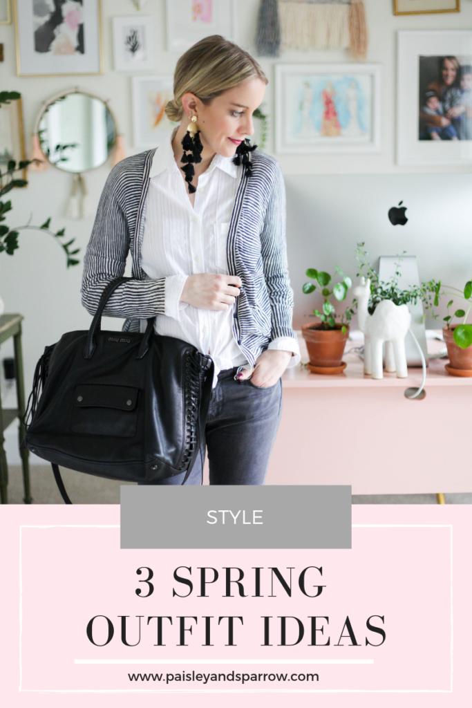 Spring outfit ideas - grey denim