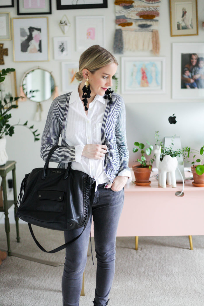 3 Spring Outfit Ideas (wearing Grey Denim)