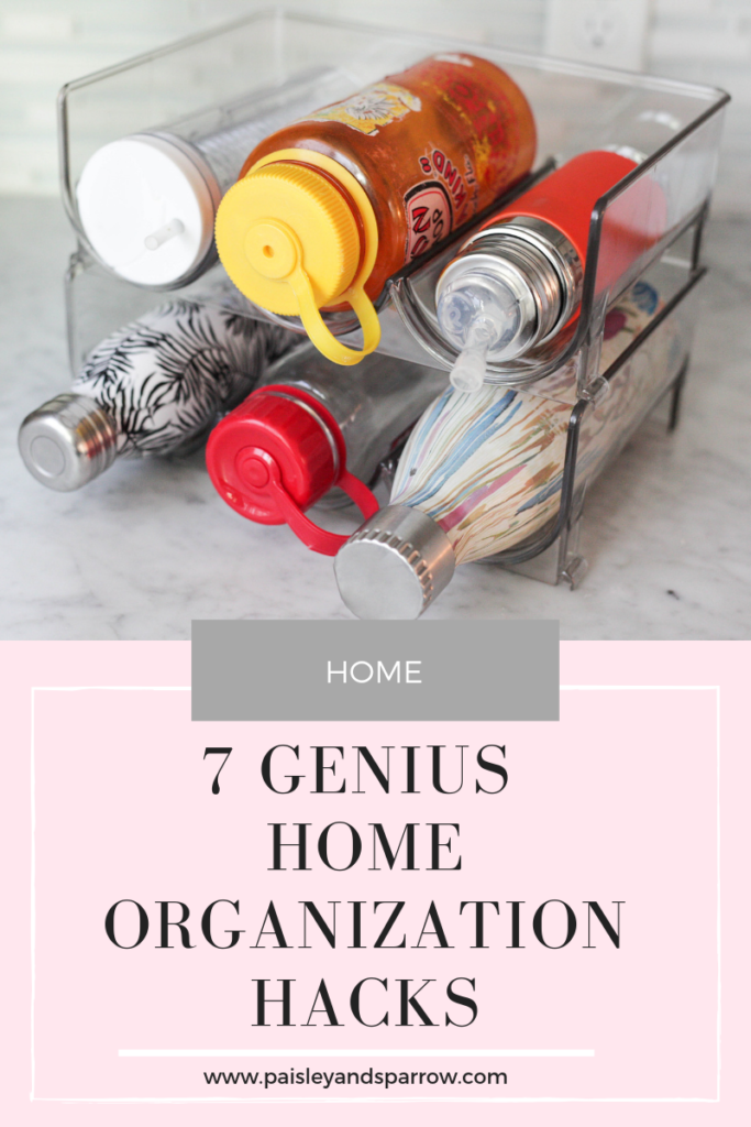 7 genius home organization hacks