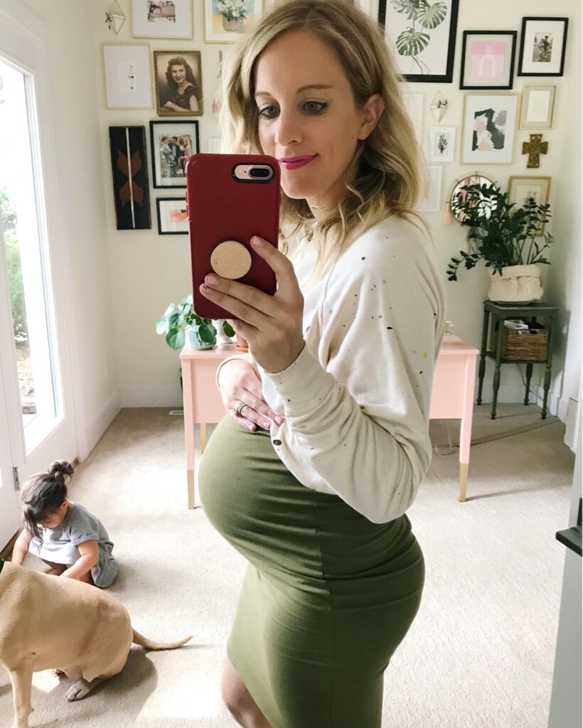 A non-maternity pencil skirt from amazon perfect for pregnancy