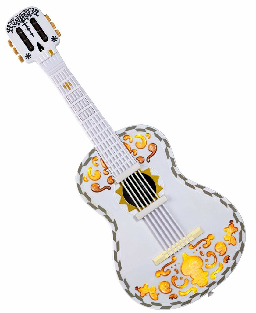 The best Coco guitar out there! Perfect for the Coco fan in your family. Click through for 14 more ideas for 3 year old boy gifts!