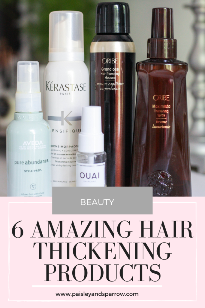 Are you someone with thin or fine hair? Looking to add some volume or thickness? These 6 hair thickening products are one I use every single week!