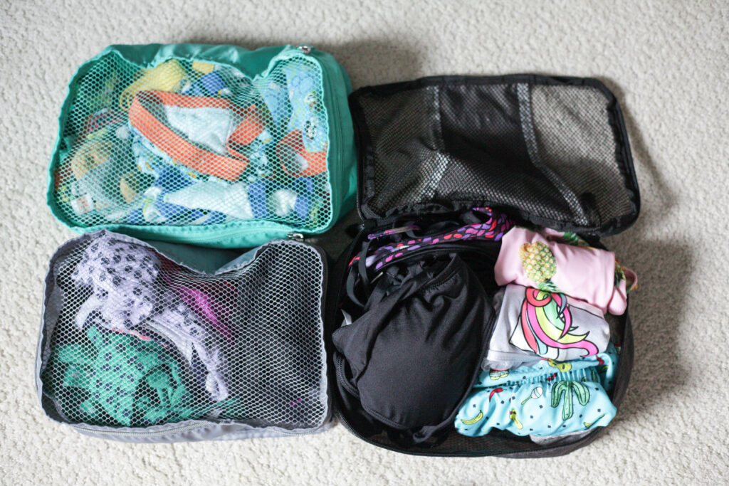 Stay organized even while traveling by using packing cubes! #traveltip #travelhack