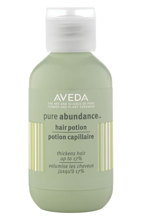 Aveda pure abundance hair potion to thicken and add grit to your hair!