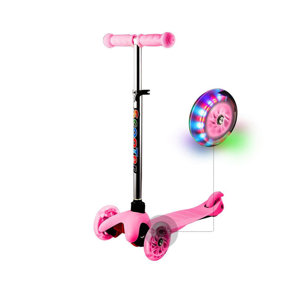 A fun light up pink scooter