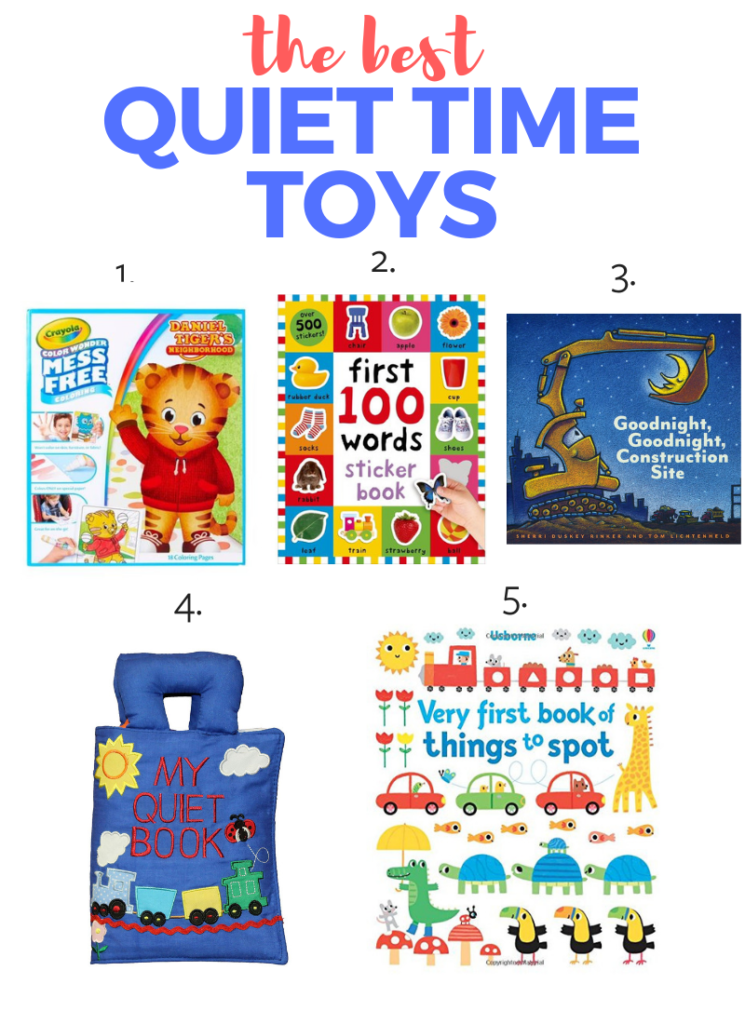 Best toys for toddlers - the 5 best activities for quiet time.