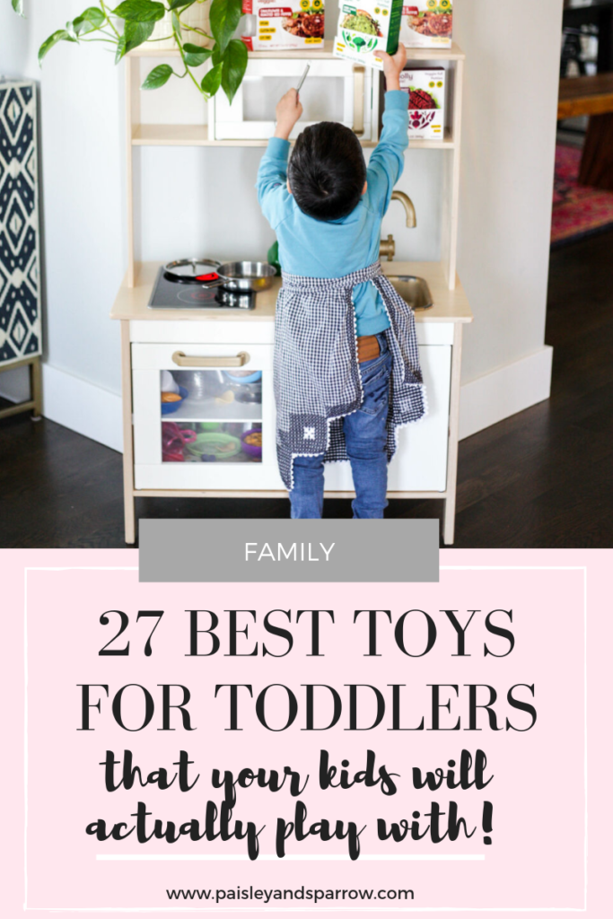 Best toys for toddlers - a compilation of toys from moms of toddlers! #momlife
