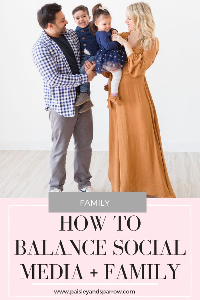 How To Balance Social Media + Family