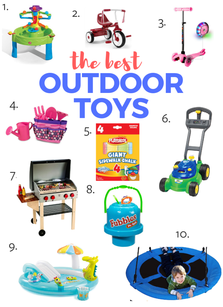 Best toys for toddlers - the 10 best outdoor toys!