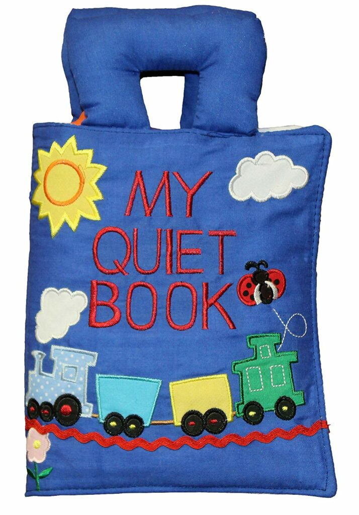 My quiet book - a great book for traveling with toddlers