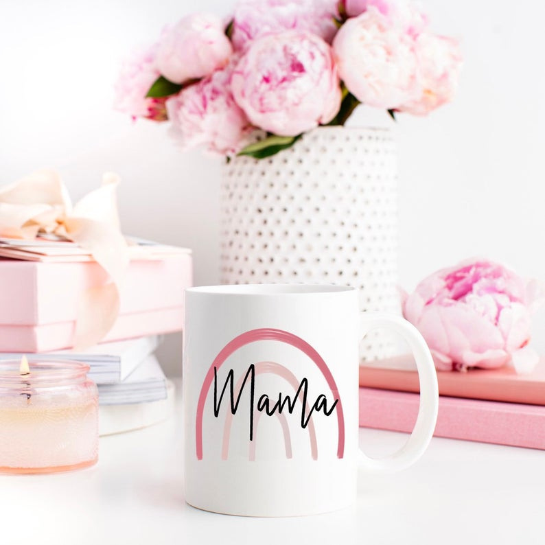A mama mug is a great addition to a new mom survival kit!