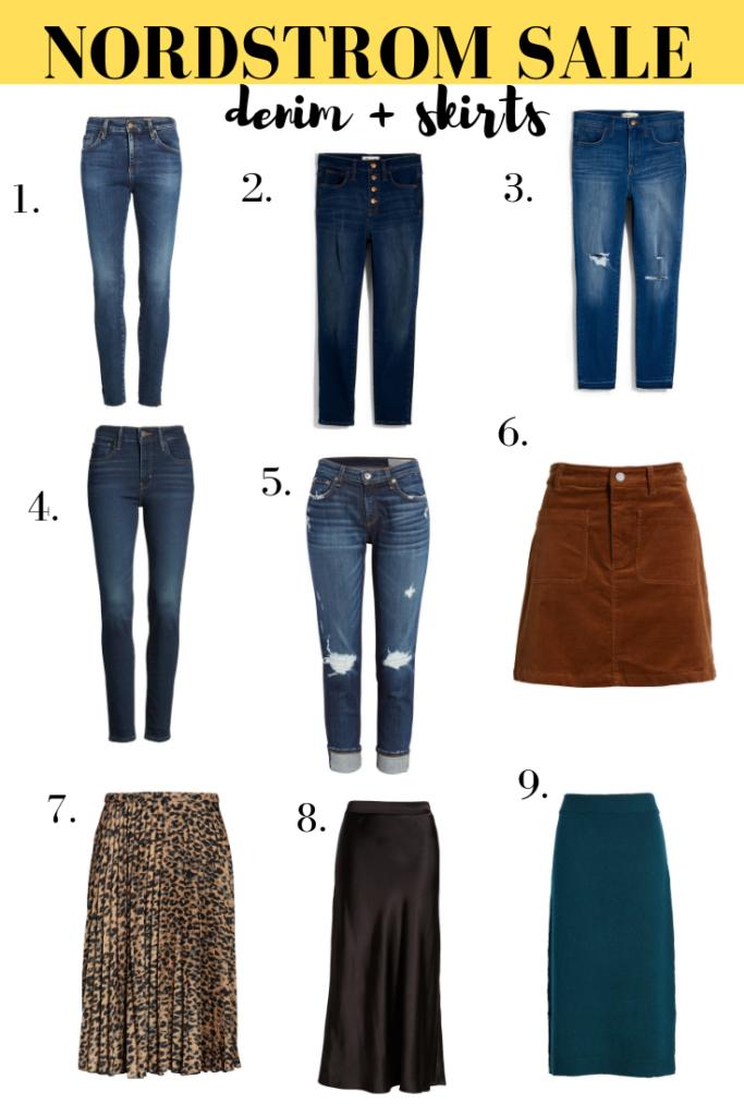 NSale denim and skirts