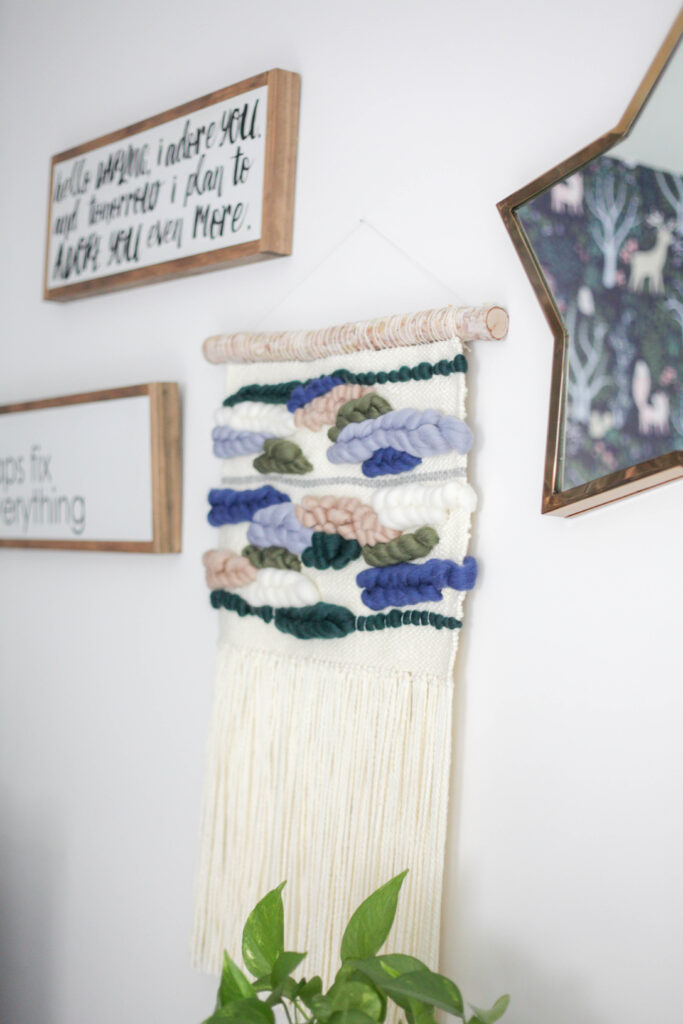 Junah Woods woven wall hanging