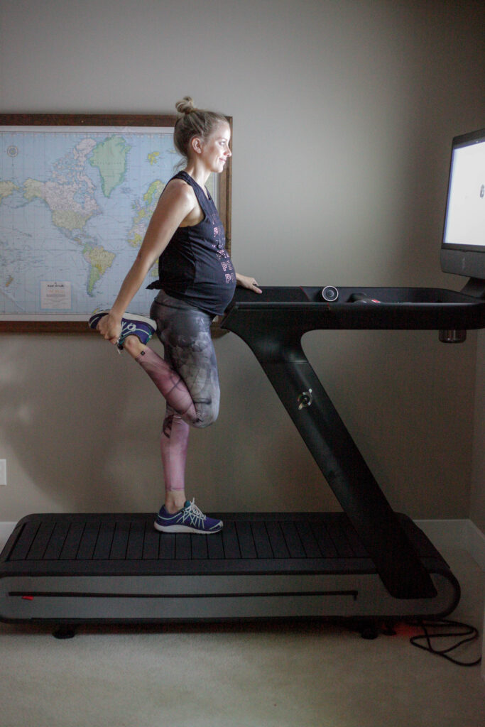Pregnant and running on the Peloton treadmill