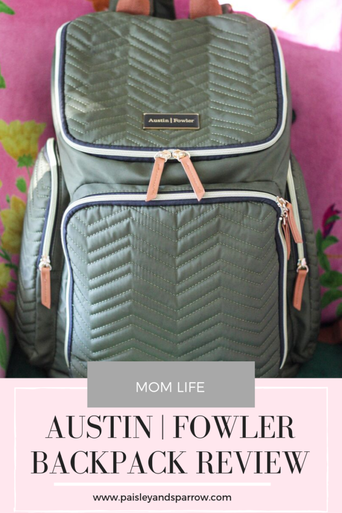 Click through to read a mom of 3's honest review on Austin Fowler's backpack style diaper bag.