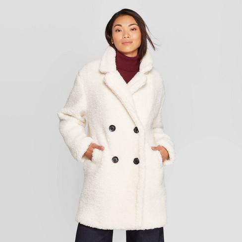 6 Teddy Jackets under $100!  - Target white teddy jacket