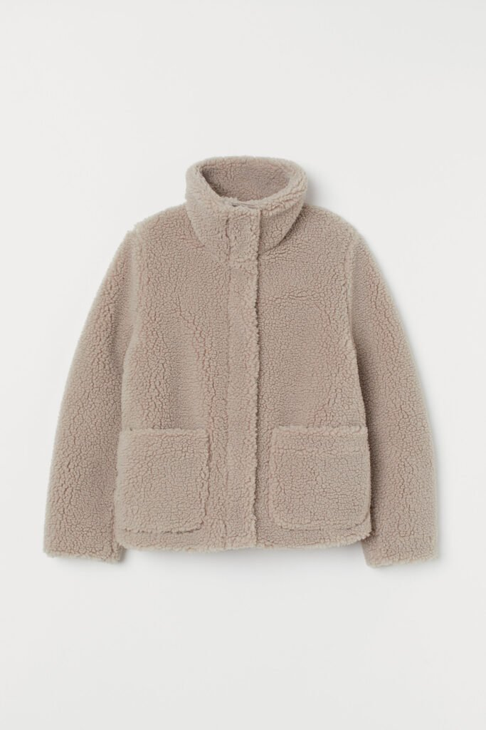 6 Teddy Jackets under $100!  - H&M Pile Jacket