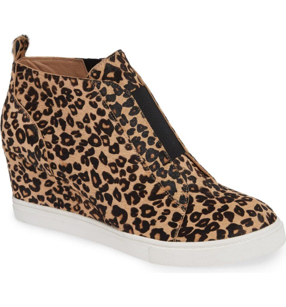 leopard wedge sneakers