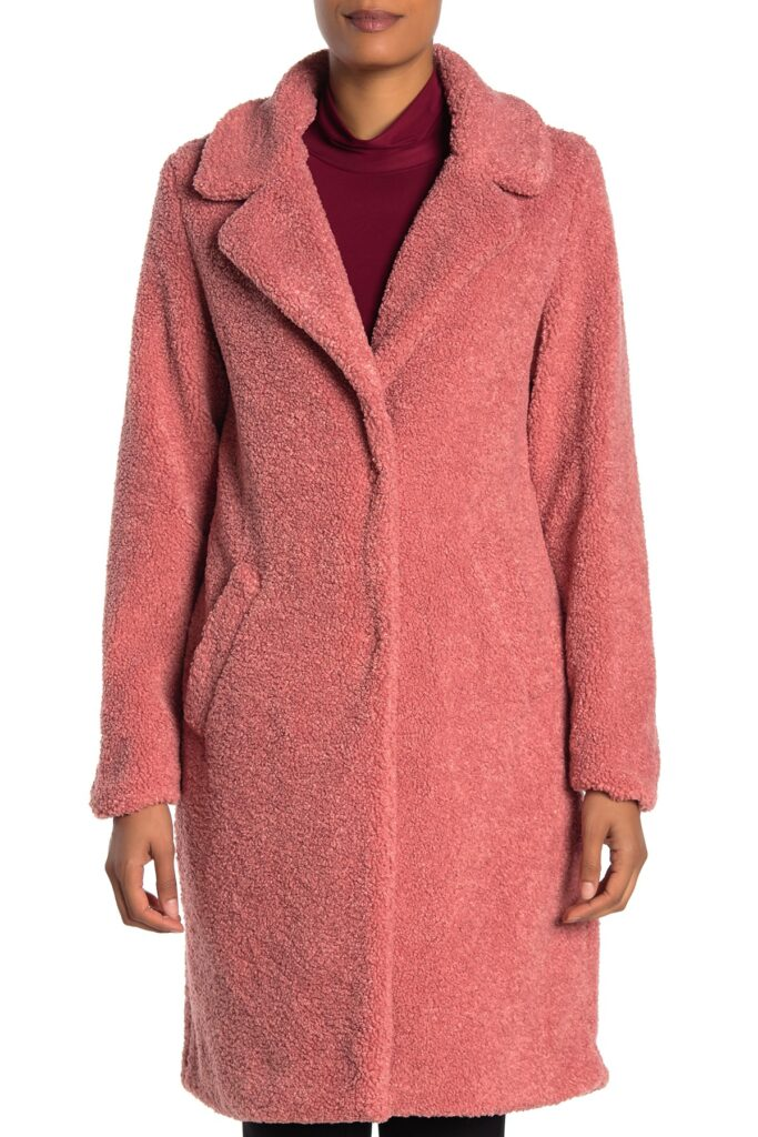 6 Teddy Jackets under $100!  - Lucky Brand long pink teddy jacket