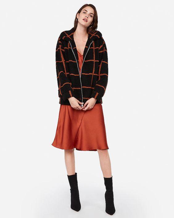 Express plaid jacket