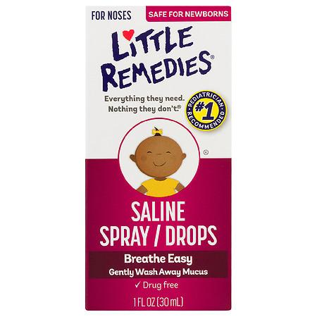 Saline spray - a necessary evil for moms! Click through for 16 more must have products for baby's first month!