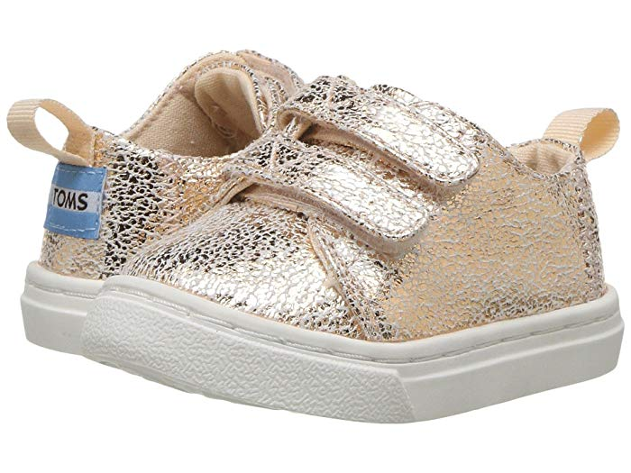 Toms sparkly velcro shoes for toddler girls