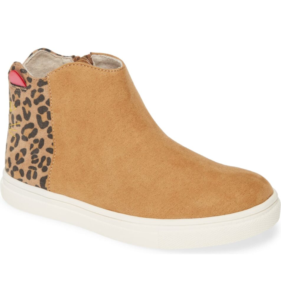 Leopard and cat bootie