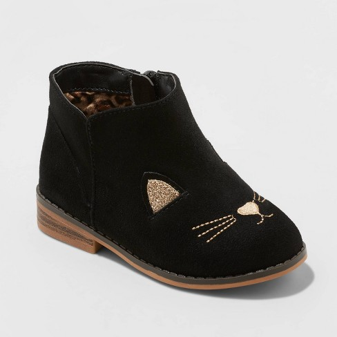 Black cat boots for toddler girls